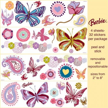 St96415 Barbie Wall Stickers Discount Wallcovering