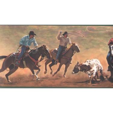 Cowboys Roping Border