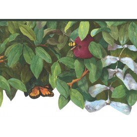 Apple Tree & Insects Die-cut Border