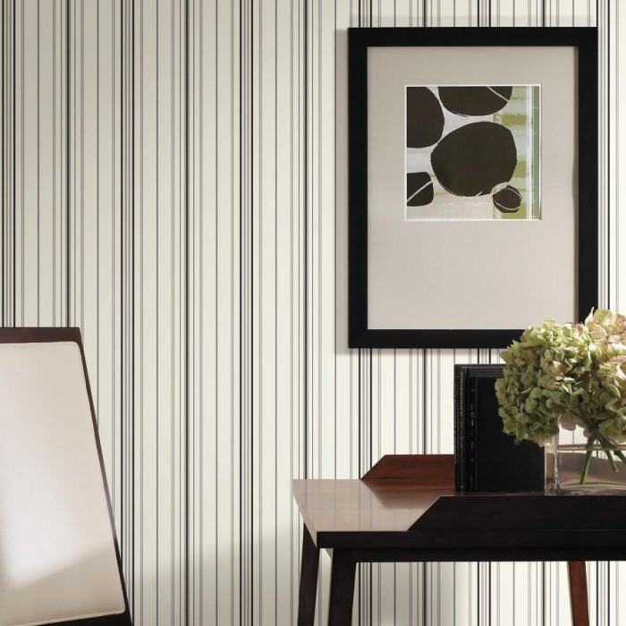 Floor Decor Military Discount: SA9109-Wide Pinstripe Wallpaper-Discount Wallcovering