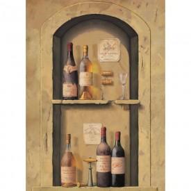 Wine Bottle Niche Mural