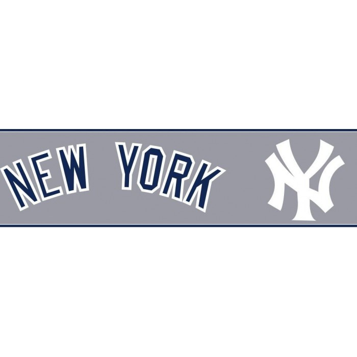 Zb3312bd New York Yankees Border Discount Wallcovering