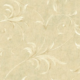 Ogee Acanthus Scroll Raised Print Wallpaper