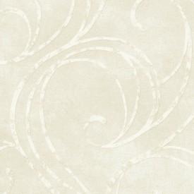 Creamy White Scroll Raised Print Wallpaper