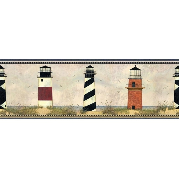 Aai08072b lighthouse legends border discount wallcovering for Cheap wall border