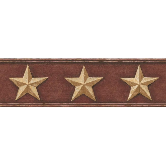 Ct1848bd Rustic Barn Star Border Discount Wallcovering