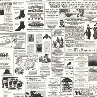 Vintage Newspaper Print Wallpaper