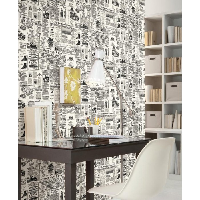 Kw7620 Vintage Newspaper Print Wallpaper Discount Wallcovering