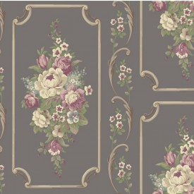 Floral Panel Wallpaper