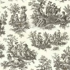Country Life Toile Wallpaper