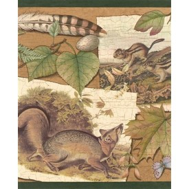 Woodland Animals Border