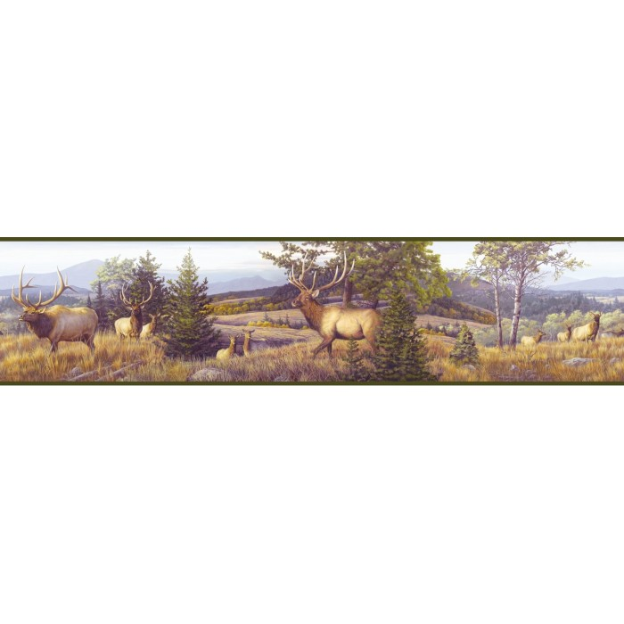 discount wallcovering elk mountain border odc030