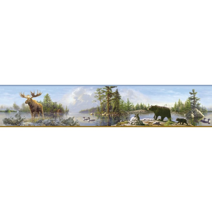 Htm48541b Moose Lake Border Discount Wallcovering