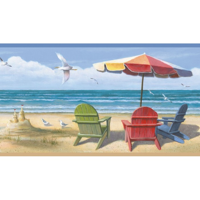 Bbc46091b Summer At The Beach Border Discount Wallcovering