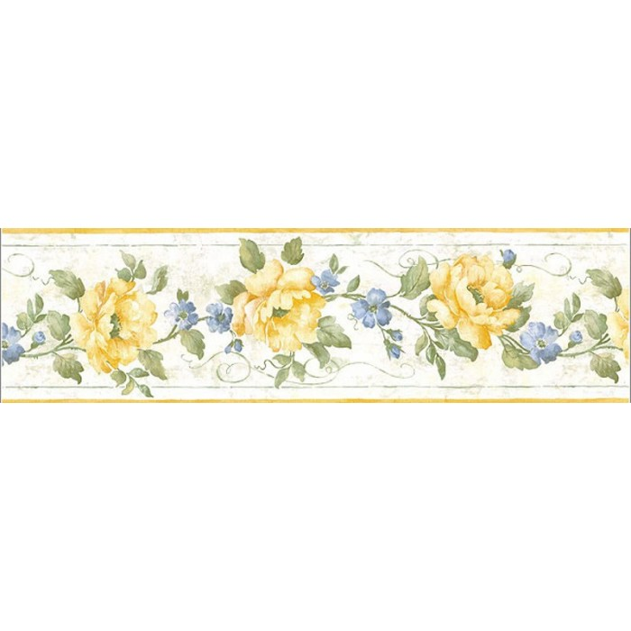 Ga101113b rose vine border discount wallcovering for Cheap wall border