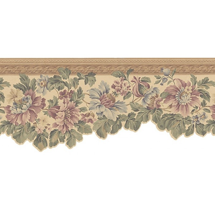 136b06216 satiny sculptured floral border discount for Cheap wall border