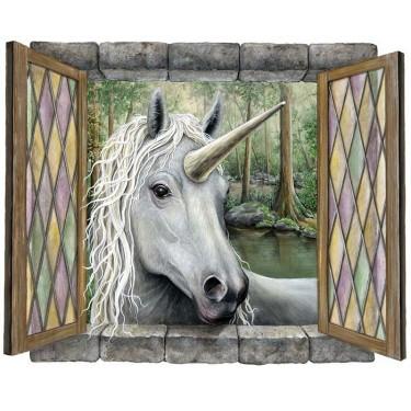 Unicorn Visitor Peel & Stick Mural