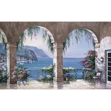 Mediterranean Arch Mural