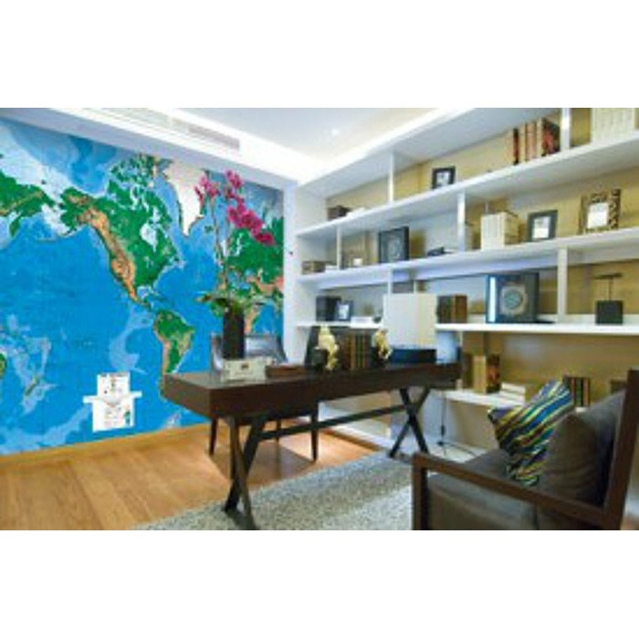 C900 world map laminated dry erasable mural discount for Environmental graphics giant world map wall mural