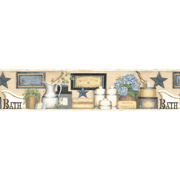 discount wallcovering country bath border ctr098