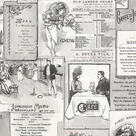 Vintage Menus Wallpaper