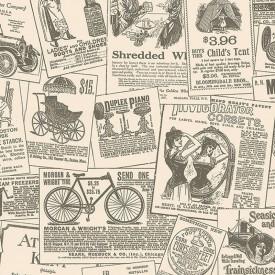 Vintage Newspaper Ads Wallpaper