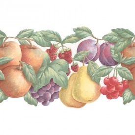 Assorted Fruit Die-Cut Border