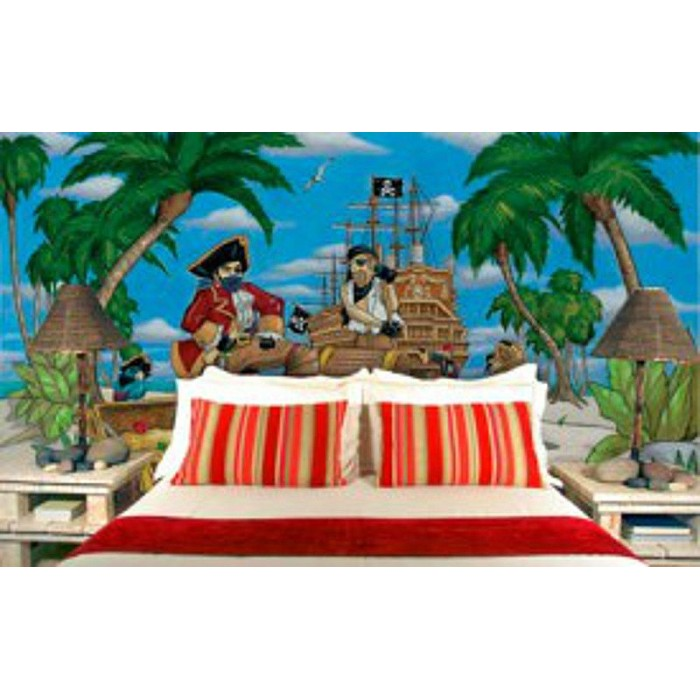 discount wallcovering pirates mural env864 pirate theme wall murals examples of pirate wall murals