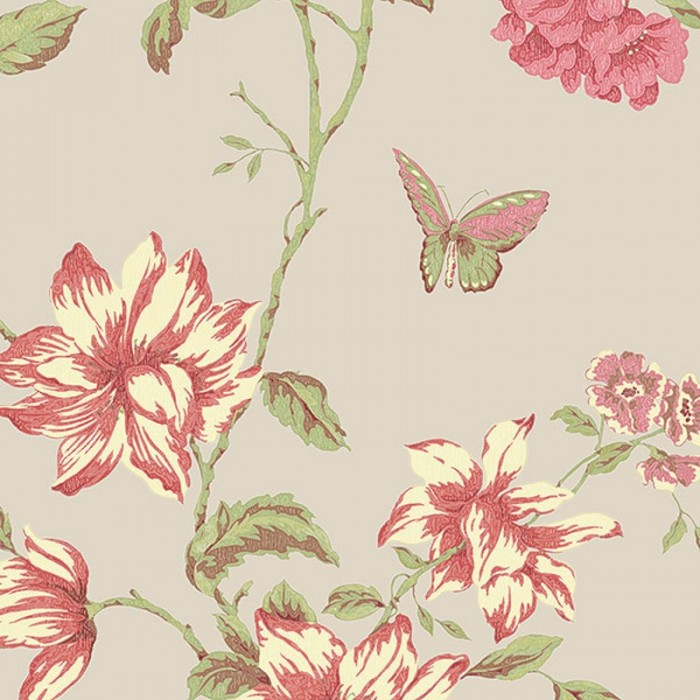 G34306-English Floral Trail Wallpaper-Discount Wallcovering
