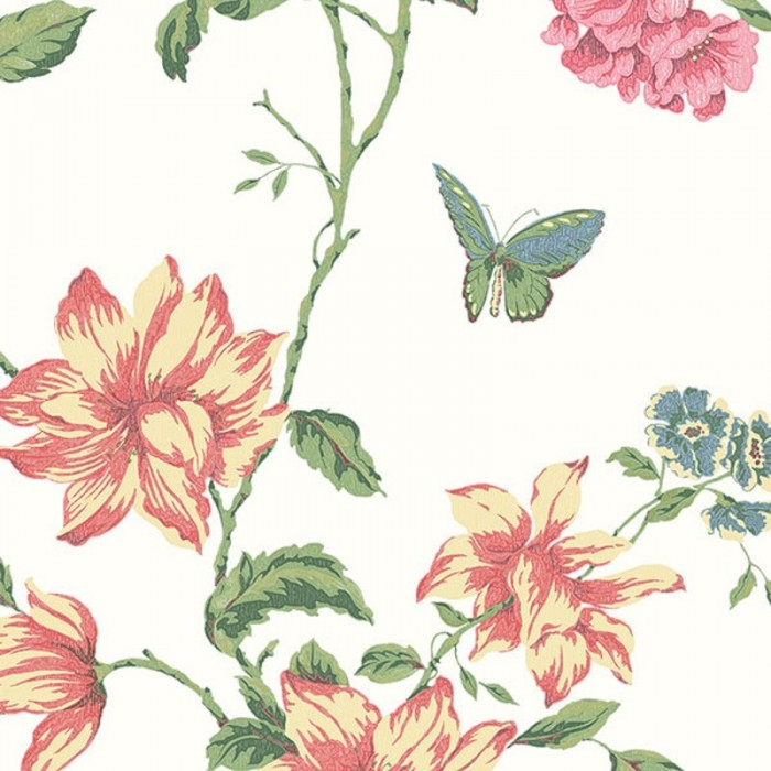 Discount Wallcovering-English Floral Trail Wallpaper-EFP030
