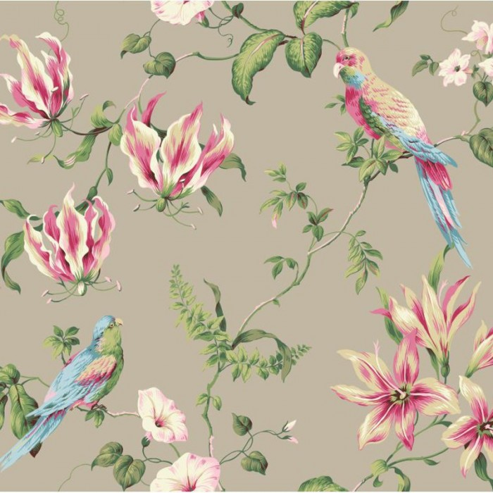 Ba4575 Tropical Floral Wallpaper Discount Wallcovering