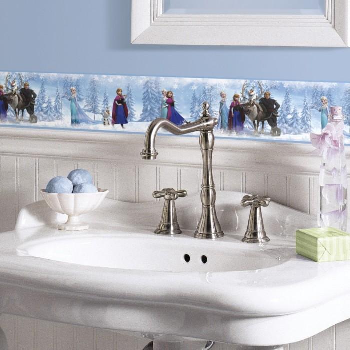 rmk2734bcs frozen peel and stick border discount wallcovering. Black Bedroom Furniture Sets. Home Design Ideas