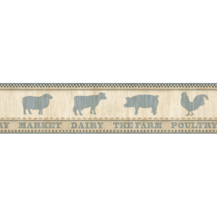 Ctr63131b farmers market border discount wallcovering for Cheap wall border