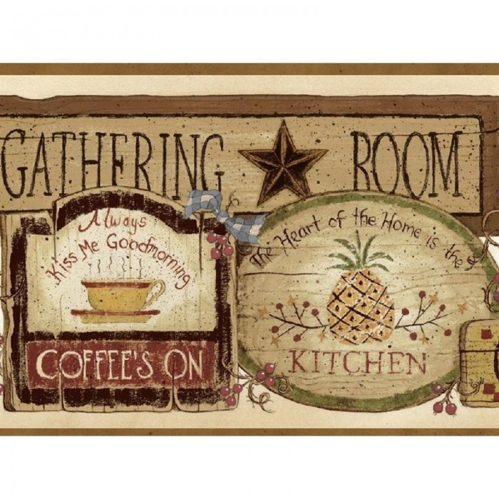 Discount Wallcovering Gathering Room Signs Border Swd148