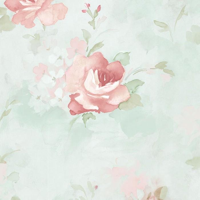 Discount Wallcovering Watercolor Roses Wallpaper Arn056