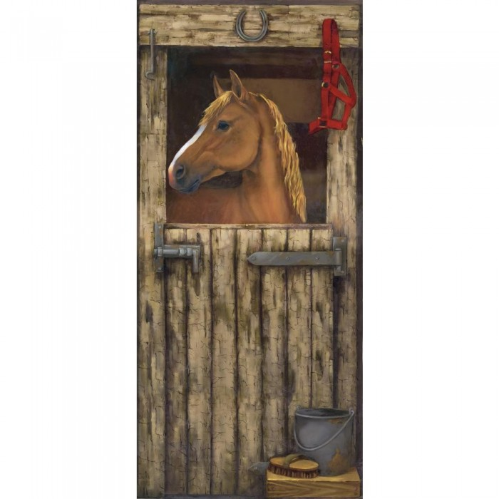 Mp4966m House In Stall Accent Mural Discount Wallcovering
