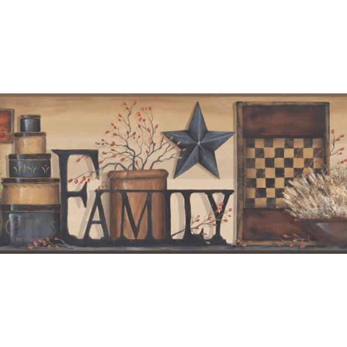 Ac4341bd Family Shelf Border Discount Wallcovering
