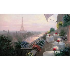 Terrace In Paris Mural