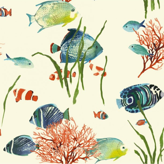 Discount wallcovering tropical reef wallpaper atr013 for Discount aquarium fish and reef
