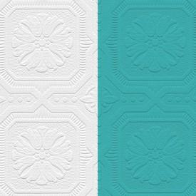 Paintable Floral Tile Wallpaper