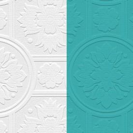 Paintable Medallion Texture Wallpaper