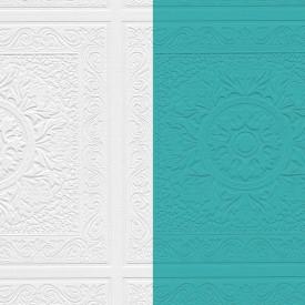 Paintable Medallion Tile Wallpaper