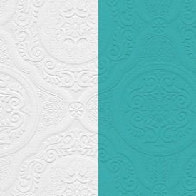 Paintable Damask Texture Wallpaper