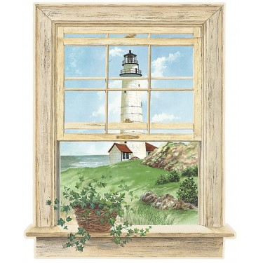 Lighthouse Window Mural