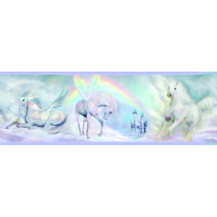 Discount Wallcovering Unicorn Dreams Border Bbc134