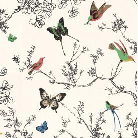 Birds & Butterflies Wallpaper