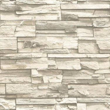 Peel & Stick Stacked Stone Wallpaper