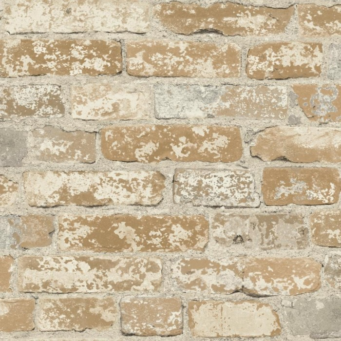 Discount wallcovering peel stick stuccoed brick for Cheap brick wallpaper