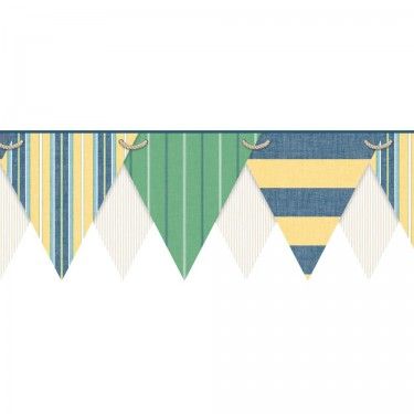 Striped Pennant Border