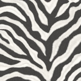 Zebra Stripe Textured Wallpaper